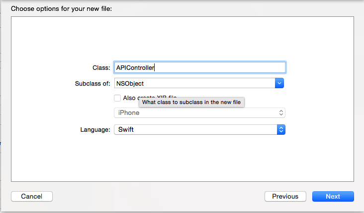 Create API Class