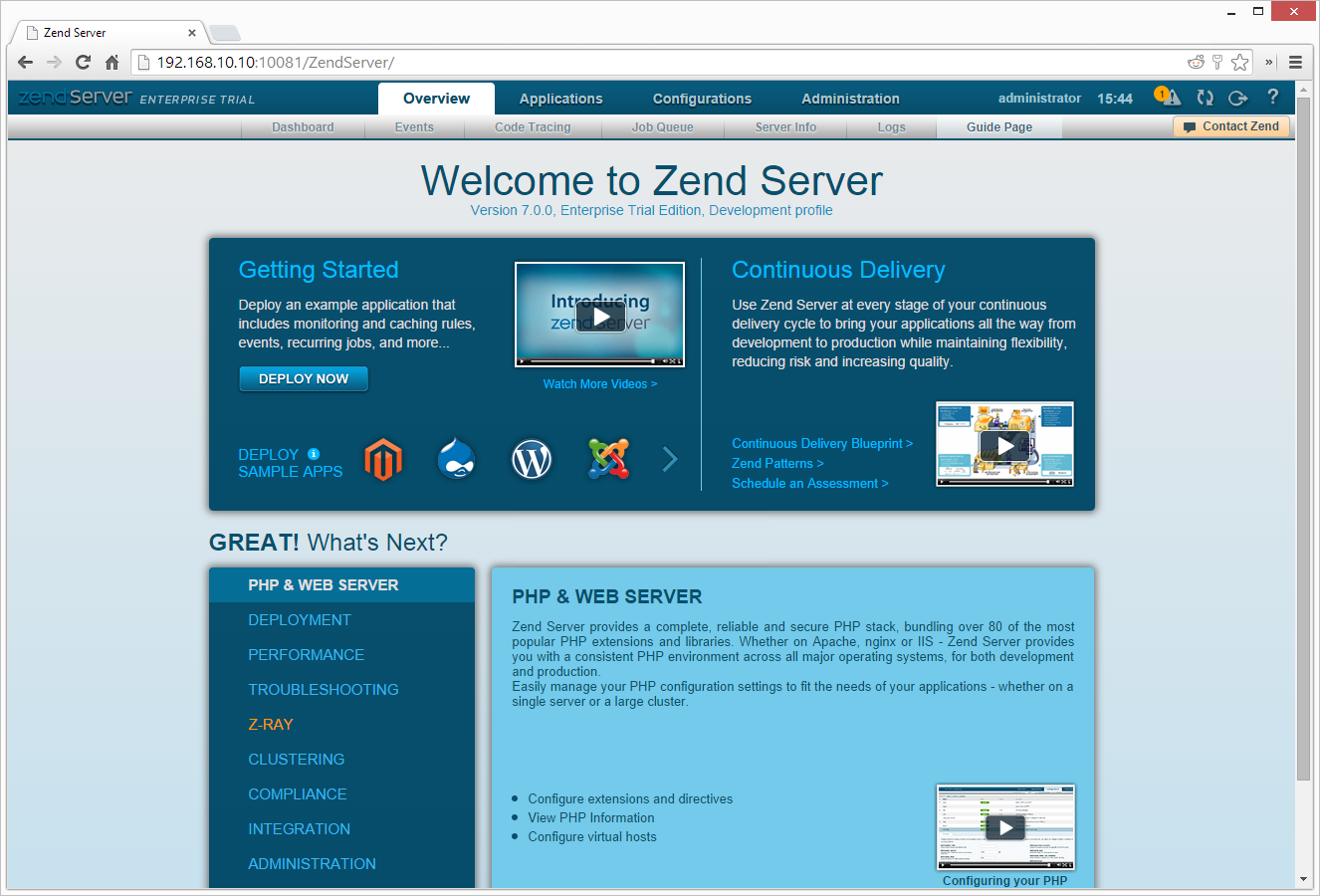 Getting to Know Zend Server 7 — SitePoint