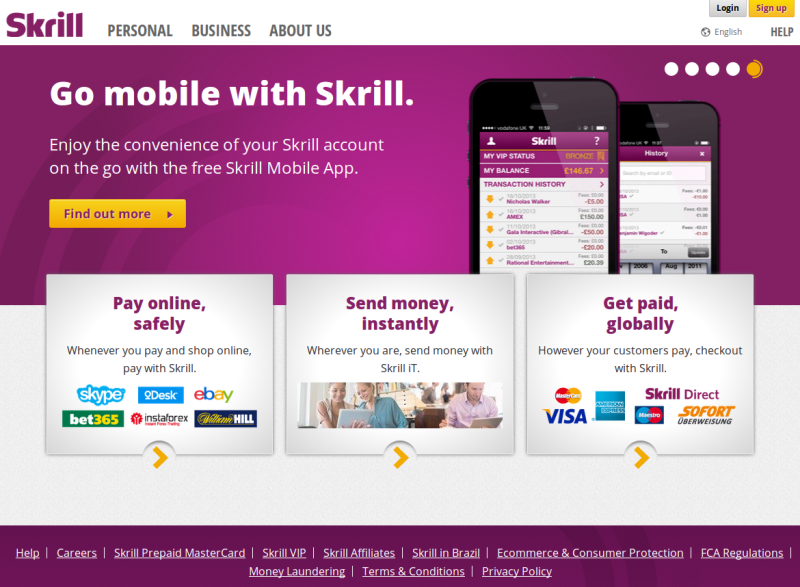 skrill online shopping
