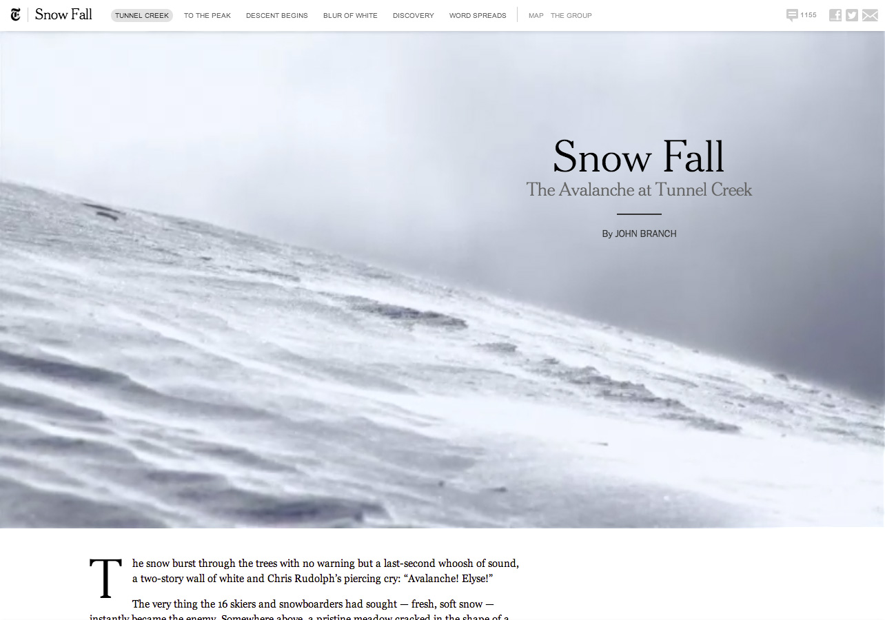 NYT Snow Fall Article