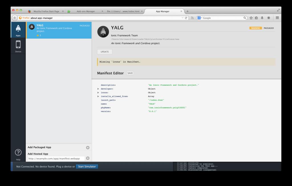 Firefox OS setup