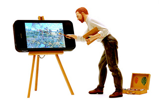 iVincent - A tiny Van Gogh painting on an iPhone