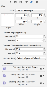 Size Inspector Panel