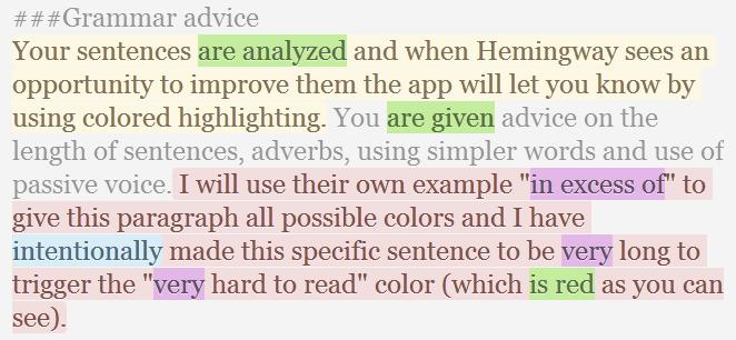 Hemingway's revision advice