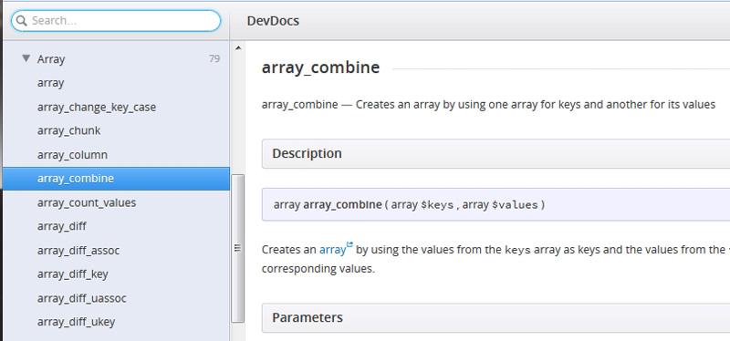 Using DevDocs