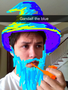 Snapchat is for silly stuff