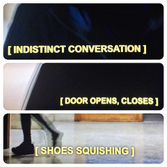 3 examples of closed captioning.