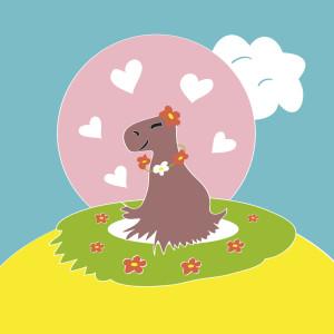 Capybara in Love