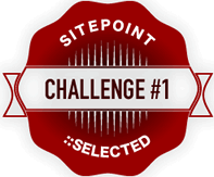 The Challenge #1: SitePoint Selected