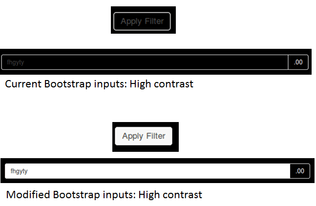 comparison of bootstrap inputs before and after