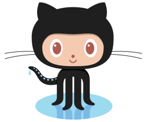 Github's cartoon logo which depicts a cats head on the body of an octopus