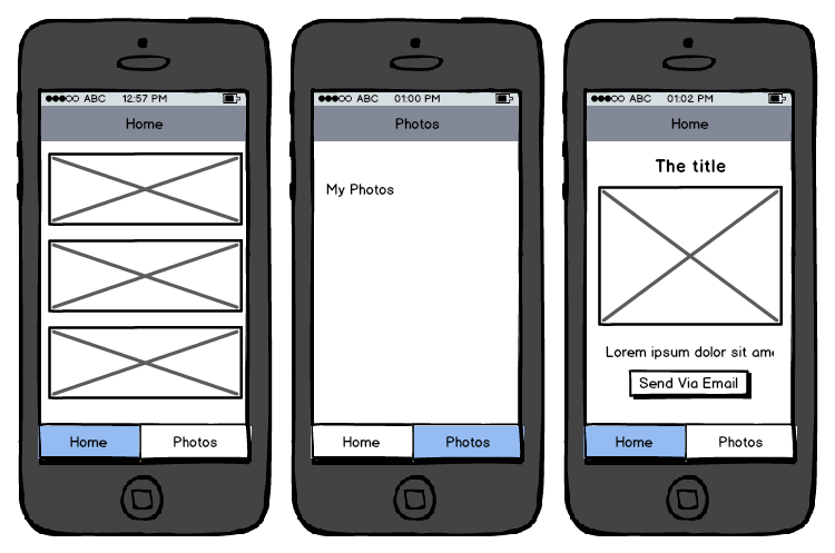 A prototype of the app