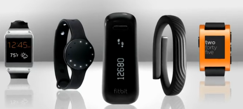 A sample of wearable devices