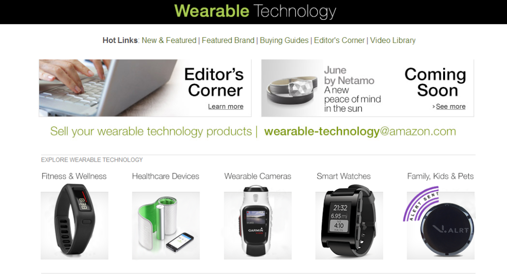 Amazon's Wearable store
