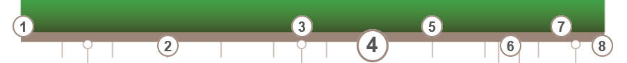 Figure 8: Instances of the TimelineTrigger widget along the timeline
