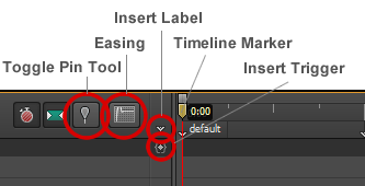 Figure 9: The Timeline panel tools