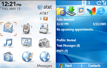 The Blackberry and Windows Mobile UIs circa 2005