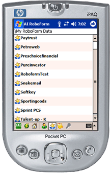 Window Mobile on an early Pocket PC.