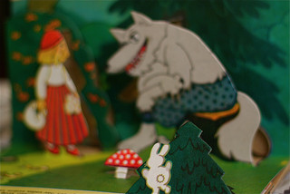 A popup book of 'Little Red Riding Hood'