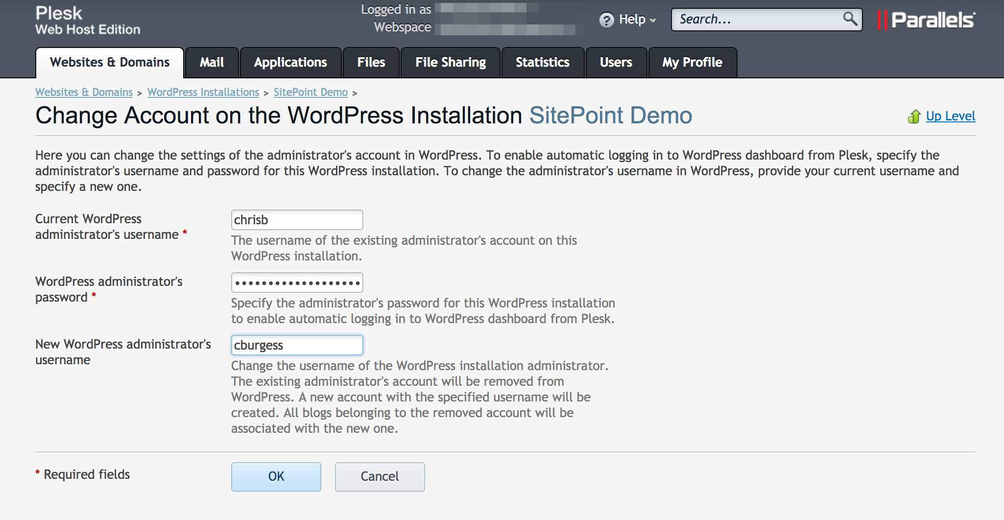 WordPress Toolkit Changing Admin Username