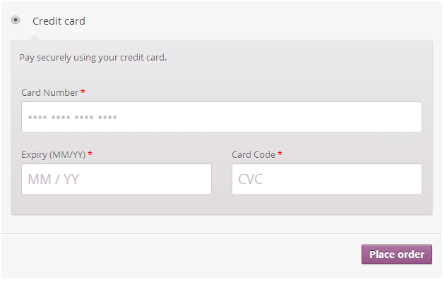 Default Credit Card Form