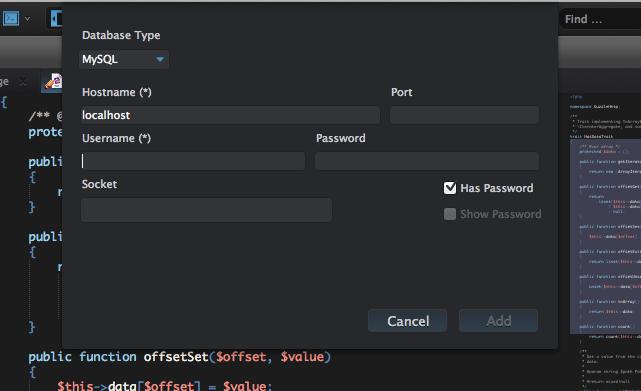 MySQL explorer