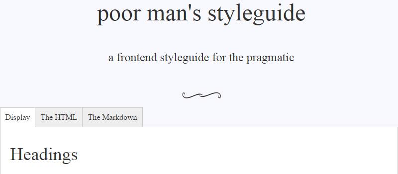 Poor Man's Styleguide
