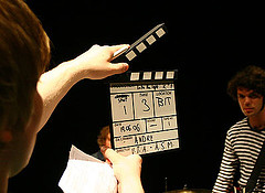 Movie capper board in action