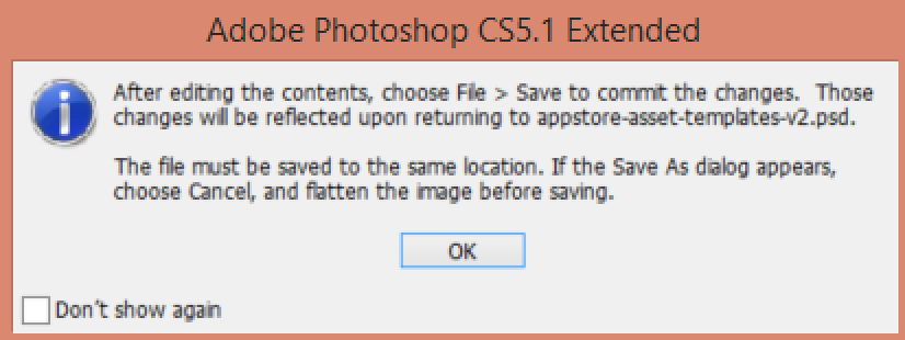 Clicking OK on that popup