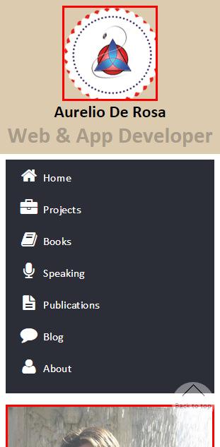 A screenshot of the Aurelio De Rosa's website as seen on a Samsung Galaxy S3