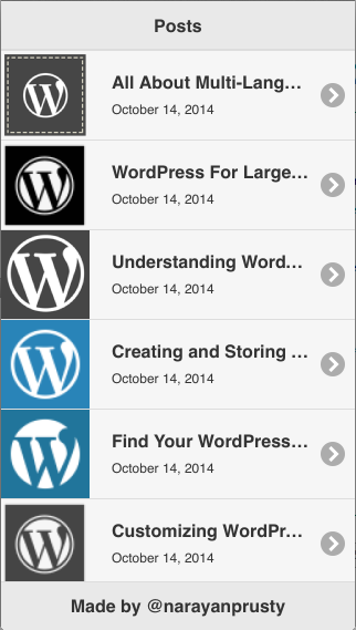 PhoneGap using WordPress 2