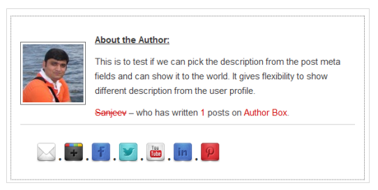 Author Box Plugin with different description