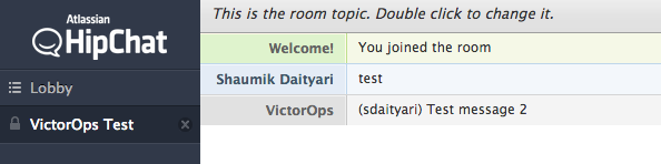 HipChat receiving VictorOps message