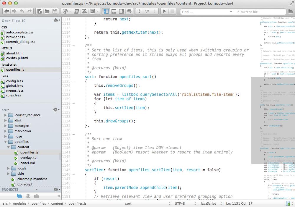 Komodo IDE editor