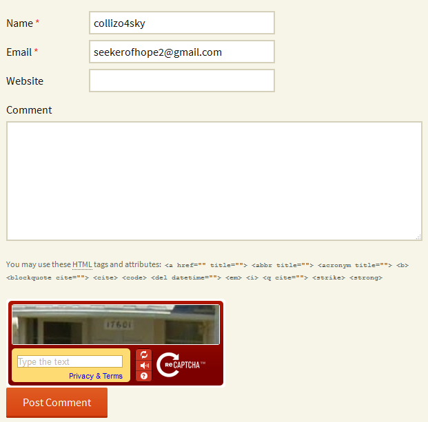 CAPTCHA on a WordPress Comment Form