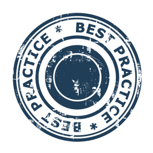 Best Practice concept stamp