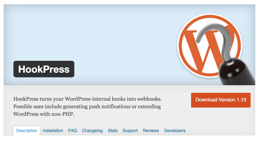 HookPress WordPress Plugin
