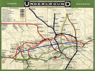 London Underground Map - 1908 -