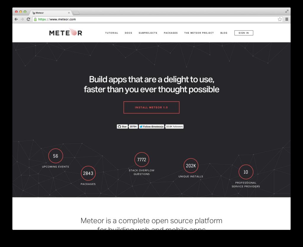 Meteor Website 1.0