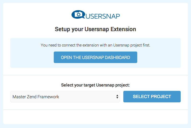 usersnap pick your project