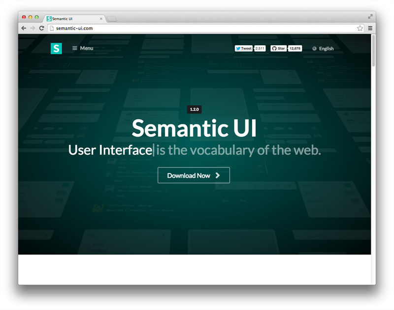 Front-end framework 3: Semantic UI