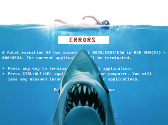 Jaws influenced blue screen of death