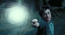 Harry Potter casting a spell