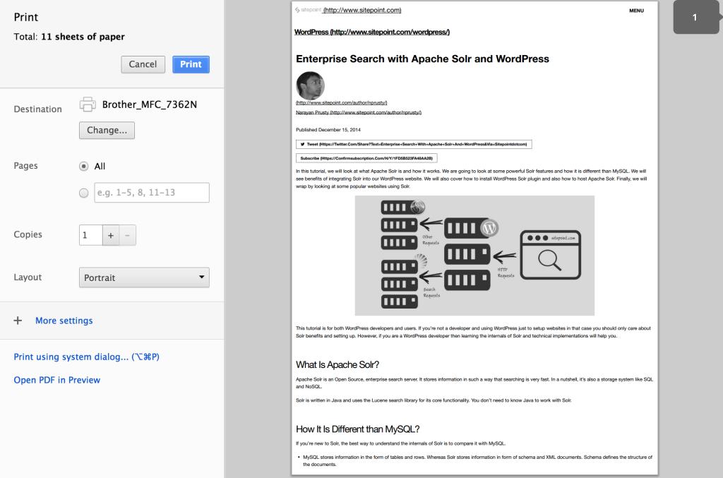Designing WordPress Themes for Printing  Example