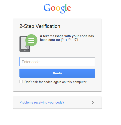 Google 2 factor authentication