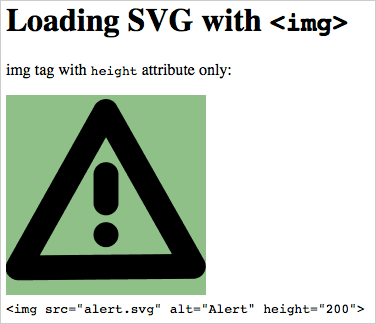 Loading an SVG with the HTML IMG tag