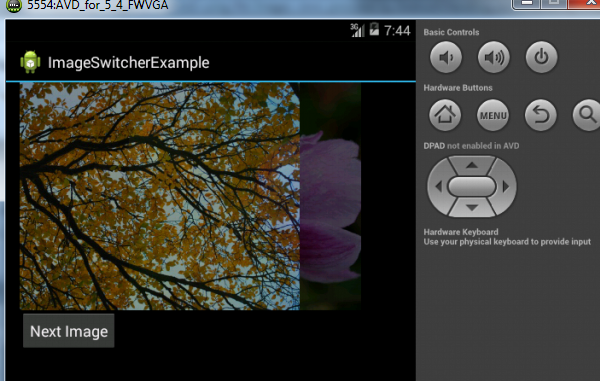 ImageSwitcher Example