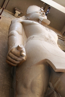 Ancient pharaoh statue