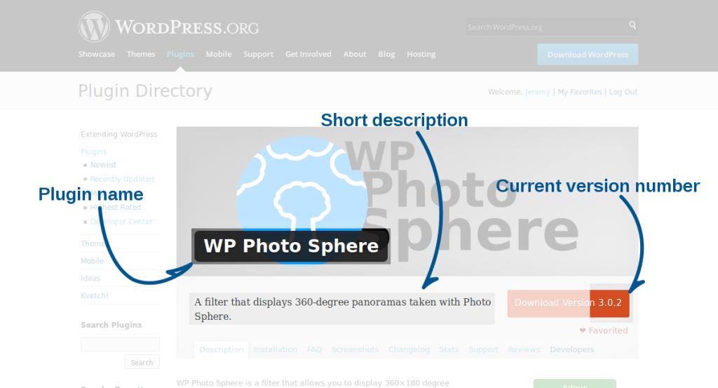 Plugin Page Header