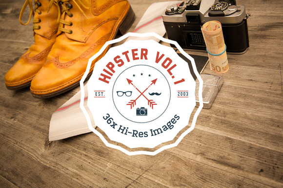 HIPSTER SET Vol. 1 — 36 High-resolution images of various hipster essentials.